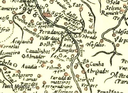 Cerva - Excerto de Mapa - 1561