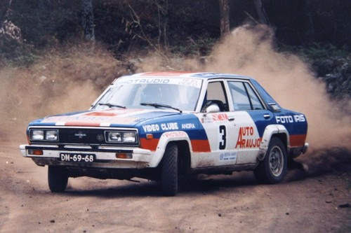 Tiago Costa e o Nissan 160J, em 1986...