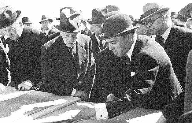 Assinatura do projecto do parque florestal, Monstanto (Mário de Novais, 1938)