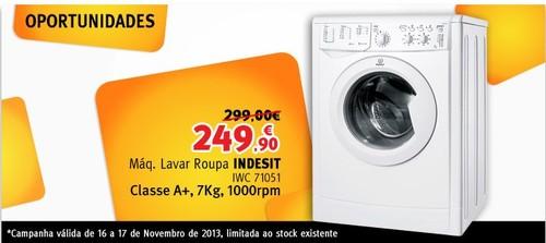 Promoção | JUMBO / BOX | Maquina Lavar Indesit só 16 e 17 novembro