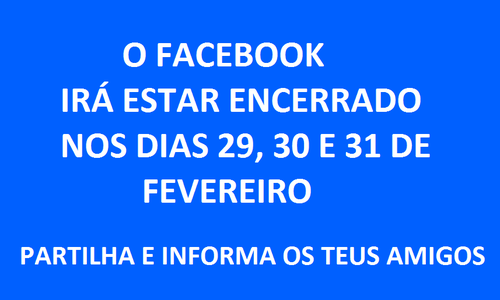 O Facebook vai estar encerrado