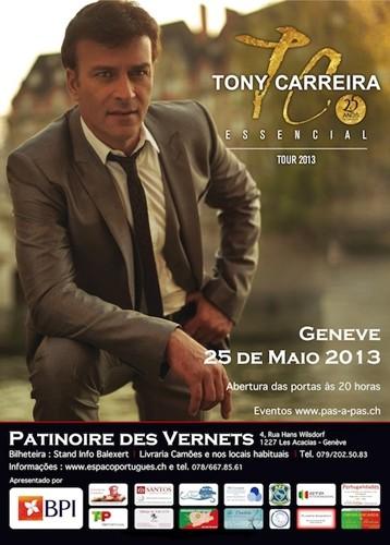 Concerto Tony Carreira em Geneve em Maio 2013