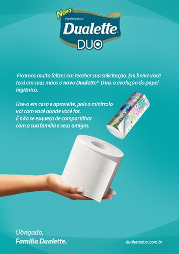 Amostra Dualette Duo - papel higiénico 15986403_BWbOp