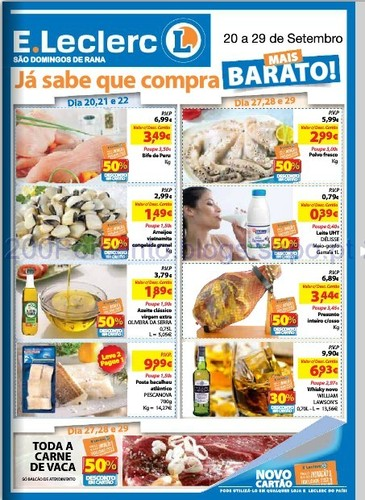 Folheto E-leclerc - S. Domingos Rana - de 20 a 29 Setembro