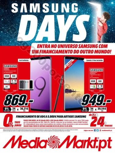 Antevisão Folheto MEDIA MARKT Samsung days Promo