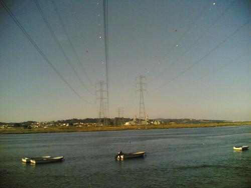 Vista para a Central Termoeléctrica de Lares (EDP