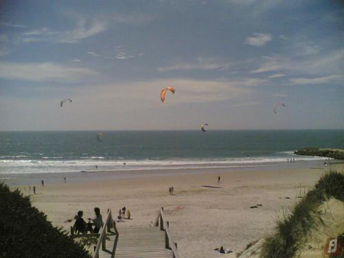 Kitesurf na praia da Gala (Figueira da Foz)