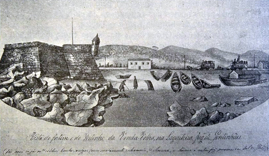 10 - Ilustração de Pinho Leal. O Portinho antes