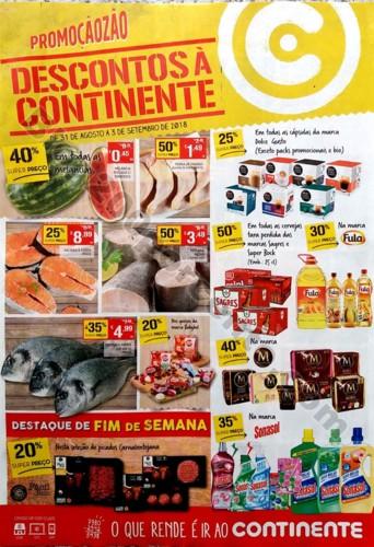 folheto fim de semana continente 31 agosto a 3 set
