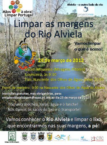 Vamos conhecer o Rio Alviela e limpar o lixo que encontramos nas suas margens, a pé!