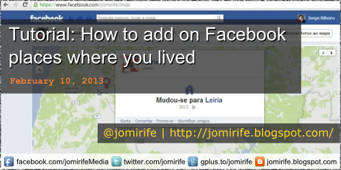 Blog: How to add on Facebook places where lived