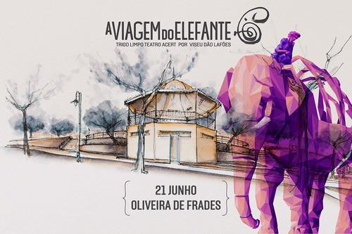 'A Viagem do Elefante' 21 de junho em Oliveira de Frades