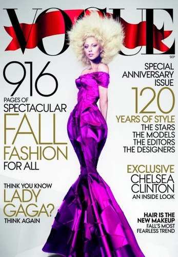 Capa da vogue com lady gaga