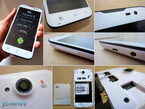 Smartphone/Tablet Bq Aquaris 5: Quad Core 1,2GHz, 5 inch screen, Android 4.2 Jelly Bean, 16GB, 1GB RAM, 8 MP Camera, Dual SIM, Micro SD Card