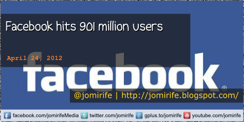 Blog: Facebook hits 901 million users