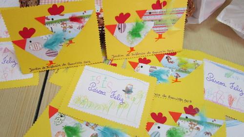 imagens jardim infancia:Na Páscoa fizémos galinhas e pintámos ovos verdadeiros. Querem ver