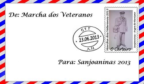O envelope da Marcha dos Veteranos 2013...
