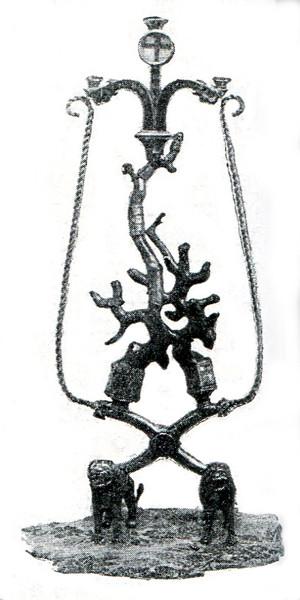 Relicário de coral e prata 01. Pertenceu à Rainh