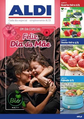 Antevisão Folheto ALDI Dia da mãe promoções a