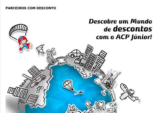 Sócio ACP Júnior é Grátis e as parcerias são para toda a família