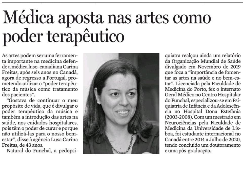 Diário de Noticias da Madeira - 16 de Agosto 2020