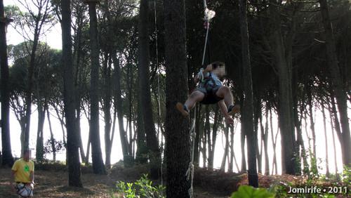 Parque Aventura: O salto de coragem
