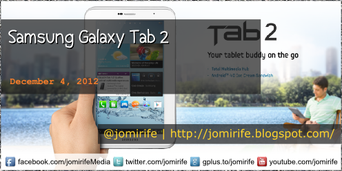 Blog Post: Samsung Galaxy Tab 2 (tech specs)
