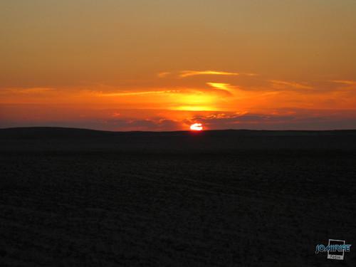 Pôr-do-sol sobre a Praia da Claridade