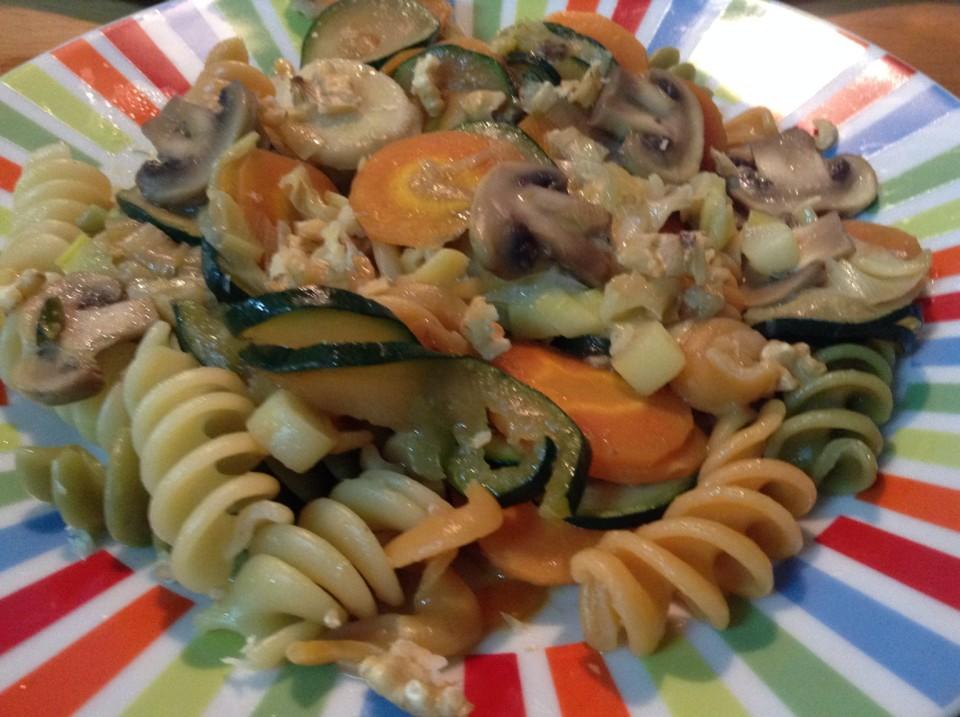 Massa espiral com legumes e nozes - A Bimby e as Manas