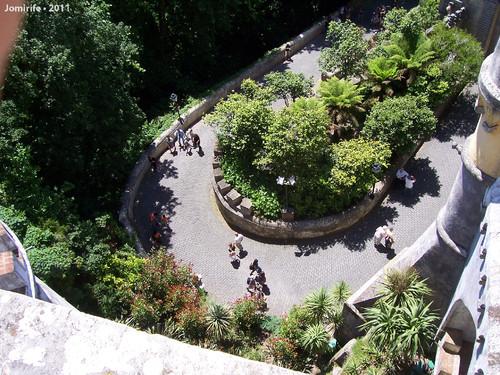 Sintra: Palácio da Pena - Pessoas a entrar