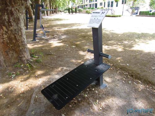 Jardim do Polis Leiria (Centro) - Circuito de Manutenção Física (5) Abdominais [en] Polis Garden of Leiria, Portugal