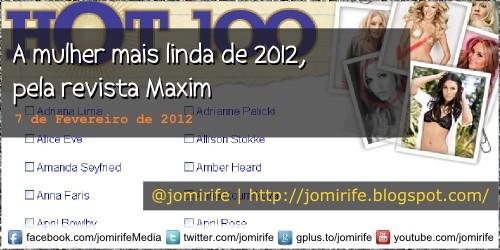 Blog: A mulher mais linda de 2012 revista Maxim