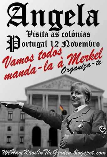 Angela Merkel de visita às colónias