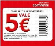 5€ em 20€ de compras