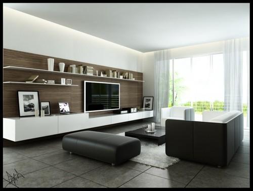 Modernas salas de estar - Decoração e Ideias
