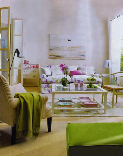 Decoracao De Sala Verde ~ Uma sala verde e lilás – Decoração e Ideias # decoracao de sala