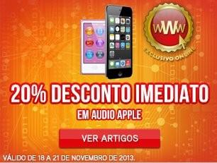 Desconto de 20% Imediato | WORTEN | Audio Apple de 18 a 21 novembro