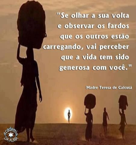 Madre Teresa De Calcutá No Facebook Se Olhares à Tua Volta E