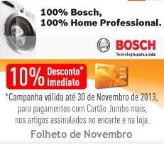10% desconto imediato | BOSH | até 30 novembro, para pagamentos com cartão Jumbo Mais