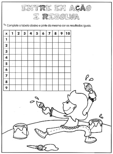 Super Atividades de Multiplicação Para 4º e 5º anos - O Mundo Das Crianças GG58