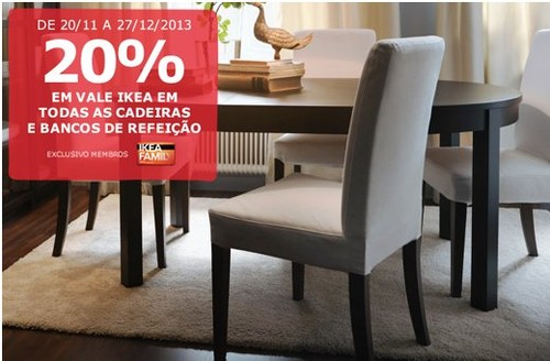 20% de desconto | IKEA | até 27 dezembro