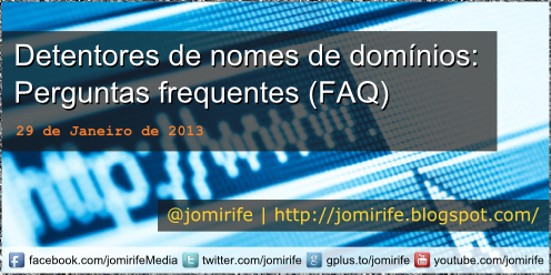 Blog Post: Detentores de nomes de domínios FAQ