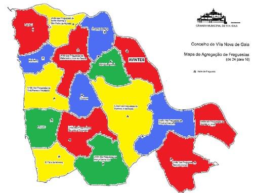 mapa das freguesias de vila nova de gaia Mapa De Vila Nova De Gaia Freguesias | thujamassages mapa das freguesias de vila nova de gaia