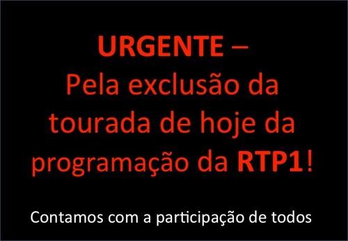 Não mais Touradas na RTP