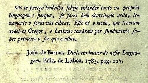 «As Duas Linguas; Grammatica Philisophica» &c.