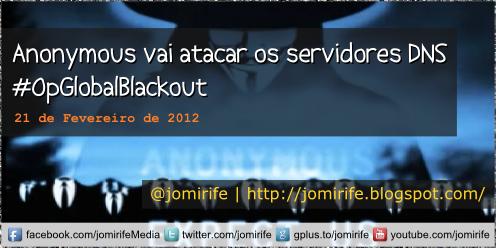 Blog: Anonymous vai atacar os servidores DNS