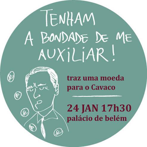 flashmob solidária com Cavaco Silva