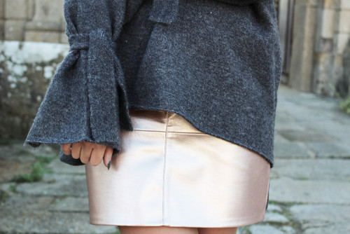 outfit metallic skirt fashion blogger blog look street style trend ina