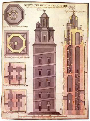 Desenho localizado nun manuscrito de Cornide (Real