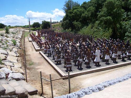 Jardim Buddha Eden - Exército em grupos